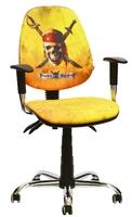 кресло Бридж хром/Дисней/Пираты/Весёлый Роджер