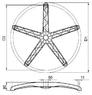 деталь - крестовина Паук 700мм